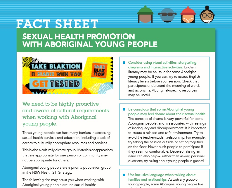 Sexual health education materials