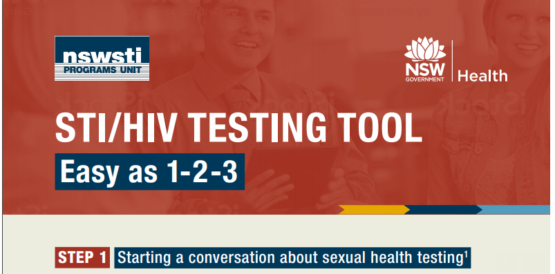 STI/HIV Testing Tool